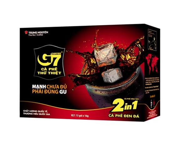 Cà phê G7 hòa tan đen đường( 2in1)