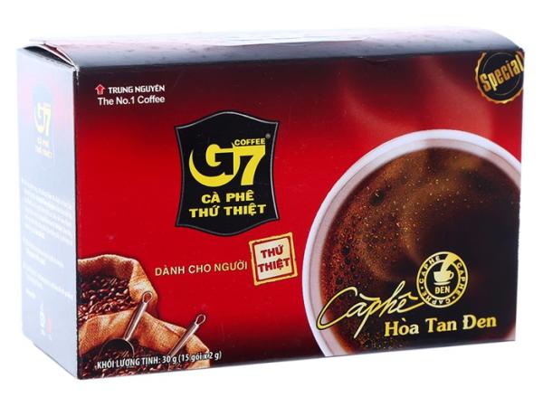 Cà phê G7 hòa tan đen (không đường)