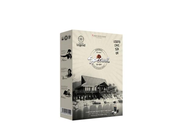 Cà phê hòa tan LEGEND SỮA ĐÁ Trung Nguyên( Hộp 9 Gói)