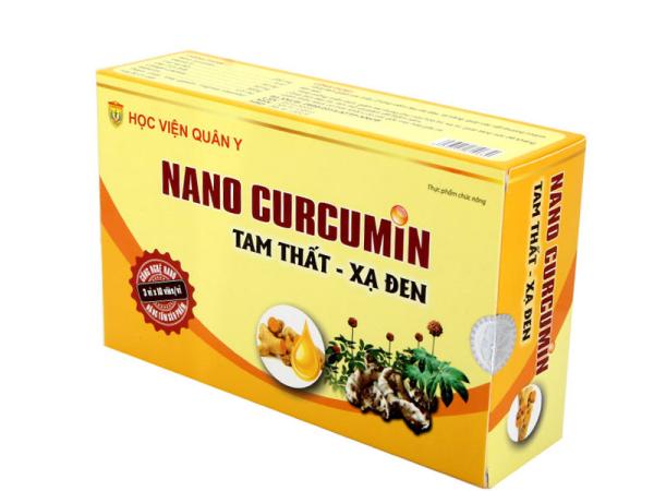 Nanocurcumin tam thất xạ đen Học Viện Quân Y